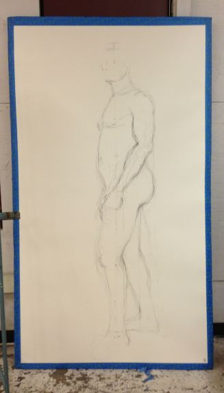 I took photos of my drawing at the end of each day of class.  This is the progression of the first of two drawing projects.  We spent the first half of the semester on one drawing and have started the second drawing.