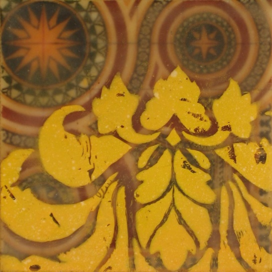 "Folktale Series: Andalusia, 2013 - Mixed media encaustic on panel, 4"" x 4"""