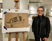 Barbara Winters - Chiaroscuro drawing on toned paper