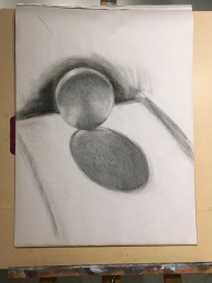 Evening Basic Drawing SU17 - Ashley Troutman, Chiaroscuro, Pt. 1 exercise