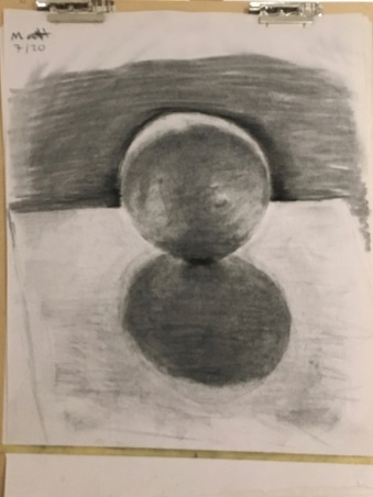 Evening Basic Drawing SU17 - Matthew Troutman, Chiaroscuro, Pt. 1 exercise