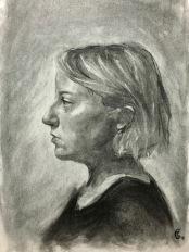 SP18 Portrait Drawing - final class Full Key Chiaroscuro Demo